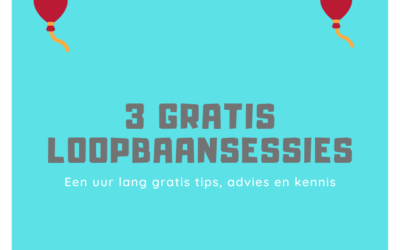3 gratis loopbaansessies cadeau